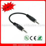 3.5mm 4-Pole Aux Plug Stereo Audio Cable