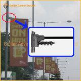 Via Palo del metallo che fa pubblicità al fissatore della bandierina (BS-BS-027)