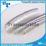 Manguito reforzado transparente del alambre de acero del PVC con la categoría alimenticia