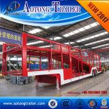 Double camion de transport de véhicule d'essieux semi Traile/camion de remorque transporteur de véhicule à vendre
