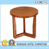 Simplifique a mesa redonda moderna em madeira maciça