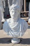 Busto di marmo romano