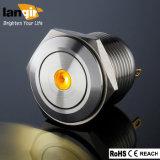 16mm短いボディ点LEDの押しボタンスイッチ