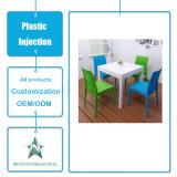 Tabela ao ar livre personalizada da mobília do jardim dos produtos plásticos e injeção ajustada da cadeira
