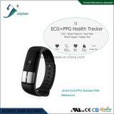 Spätestes intelligentes Armband hören Funktions-intelligentes Armband des Verhältnis-Blut-Oxygen/ECG/PPG Mult