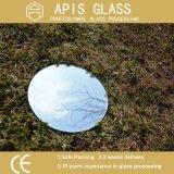 Espelho de prata oval com borda Polished para o banheiro, espelho da trilha de raça de Frameless da bacia de lavagem