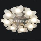 Sala de estar decorativa moderna Luminárias de teto LED Luminárias com sombra Arylic
