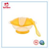 Bacia de alimentação do bebê com jogo da colher