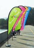 Bandierine decorative del Teardrop della spiaggia del poliestere di stampa di Digitahi per fare pubblicità