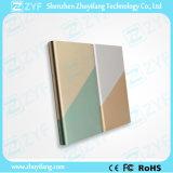 bewegliche Vierecks-Doppelt-Ton-Farben-Energien-Bank der Aufladeeinheits-4000mAh (ZYF8072)