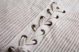 As mulheres frouxas feitas sob encomenda do pulôver da cor contínua do estilo da forma fizeram malha a venda por atacado da camisola