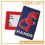 Logo personnalisé Soft PVC Luggage Tag for Wholesale Gift (YB-LT-10)