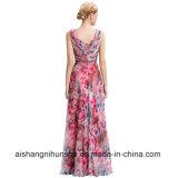 Платье партии вечера цветка Пол-Длины флористической печати Одн-Плеча шифоновое