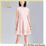 Kleid-Frauen-Rosa-Sleeveless Kleid für Großverkauf