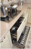 Cucina dell'impiallacciatura del PVC con la barra di prima colazione moderna (zc-024)