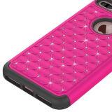 PC+híbrido de teléfono de diamantes de silicona para iPhone 7 Más
