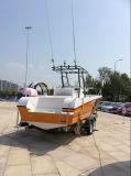 barco dos esportes da fibra de vidro da T-Parte superior de 27FT