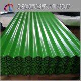 Tôle d'acier ondulée galvanisée par PPGI de toiture