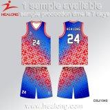 Uniformes del baloncesto de cuaesquiera de las tallas de la ropa de deportes del diseño de la manera de Healong engranaje hombres de la sublimación