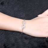 Form-Platin überzog Form Cezch Bohrgerät-hängende Charme-Armband-Schmucksachen des Armband-acht
