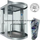 Baixo elevador da observação do ruído com vidro Sightseeing