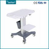 Carrito para ecógrafo portátil de ultrasonido, veterinario, eldispositivo médico