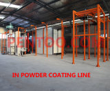 Risparmio Space Manual Powder Coating Booth per Complex Workpieces