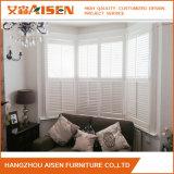Obturateur de plantation de fenêtre de bois blanc de sécurité moderne en provenance de Chine