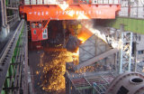Staalfabriek in Staalfabriek wordt gebruikt die LuchtKraan gieten die