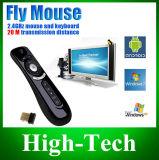 Gyroscoop Mini Fly Air Mouse T2 2.4G draadloze toetsenbordmuis Android Remote Control 3D SENSE voor Andriod TV Box