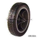 2.50-4 هوائيّة يد حامل متحرّك فولاذ حافّة مطّاطة عربة يد عجلة إطار العجلة