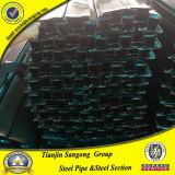 Templado negro sección hueca, tubos de hierro Ltz Ltz Ltz, Perfil de la ventana de tubos de acero