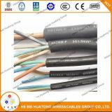 Обшитый резиной провод гибкия кабеля с UL, TUV, сертификатом Ce