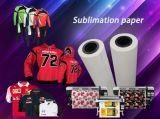 "Papel do Inkjet do Sublimation largura do adesivo 44 da aderência do Fa 100GSM da "" para o Sportswear/a roupa ioga do Swimwear/Legging/"