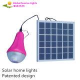 3W LED solar enciende marca de fábrica recargable solar inteligente de la salida del sol de la lámpara de los kits solares LED del color verde