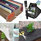 Tissu non-tissé noir de pp pour la couverture de couvre-tapis de Weed d'horizontal