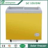 100% outre du congélateur actionné solaire de poitrine de C.C du réseau 12V 24V