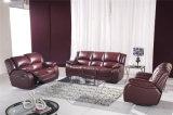 Мебель софы кожи Recliner красного цвета