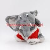 OEM на заказ персонализированный логотип Cute Санта-слон игрушки Мягкие плюшевые игрушки мягкие игрушки