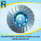 Колеса чашки диаманта Romatools алюминиевого Turbo для гранита