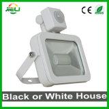 신식 10W 백색 까만 LED 센서 플러드 빛