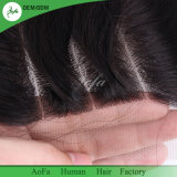 100% de qualité cheveux humains cheveux brésilien 4X4 fermeture à lacets