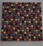 Buntes quadratisches Marmormosaik, Steinmosaik, natürliche Steinmosaik-Fliesen