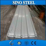 Feuille ondulée de toiture enduite d'une première couche de peinture par tuile en acier de la tôle d'acier de Galvainzed PPGI