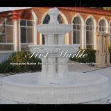 Fontein van de Kolom van Carrara van de hoogste Kwaliteit de Witte voor Decoratie mf-764 van het Huis