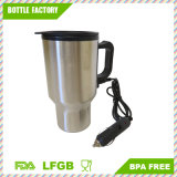 Travel Heated Mug Thermo en acier inoxydable portable isolé voiture voiture chargeur