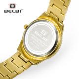 Belbi 형식 호화스러운 다이아몬드 여자의 시계는 여자를 위한 석영 시계를 방수 처리한다