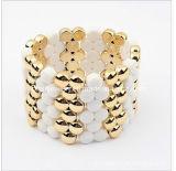 La moda de primavera todo el material acrílico amarillo blanco Pulsera de bisutería de primavera de 2013 Traje de Pulsera de moda y joyas de moda joyas pulseras (PB-077)