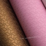 Couro de sapata artificial de couro decorativo sintético do falso do plutônio do revestimento protetor não tecido