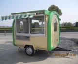 De mobiele Kar van het Voedsel met Wielen voor de Kiosk van de Hotdog van de Koffie van het Snelle Voedsel